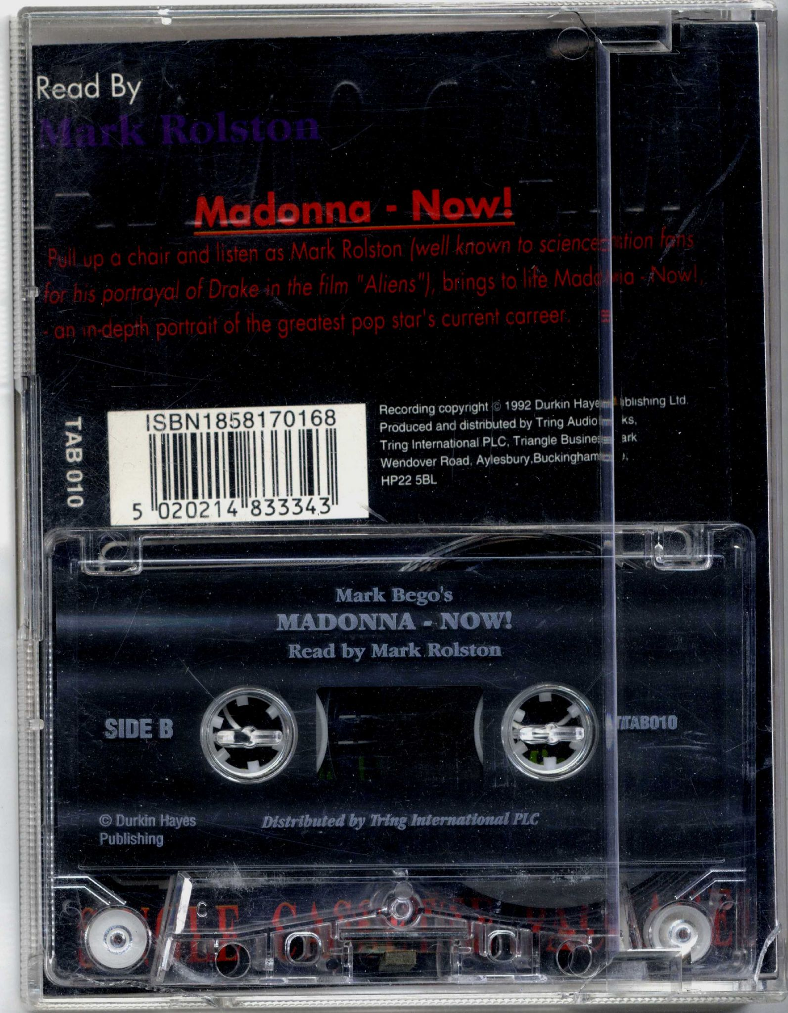 MADONNA NOW - UK AUDIO BOOK CASSETTE PACK